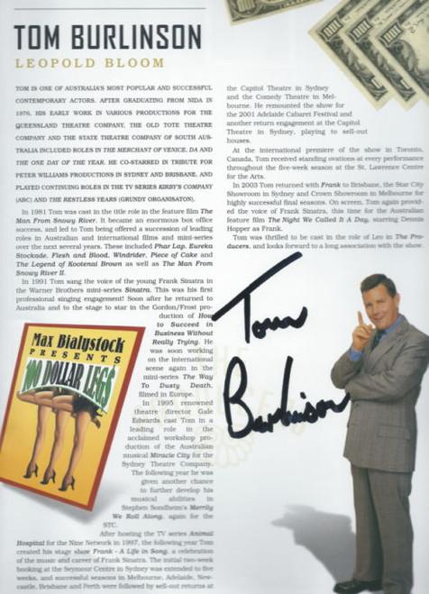 The Producers (Musical) Opening Night Souvenir Brochure Gold Tagged, Souvenir Brochure - 2004 Reg Livermore, Tom Burlinson, Tony Sheldon