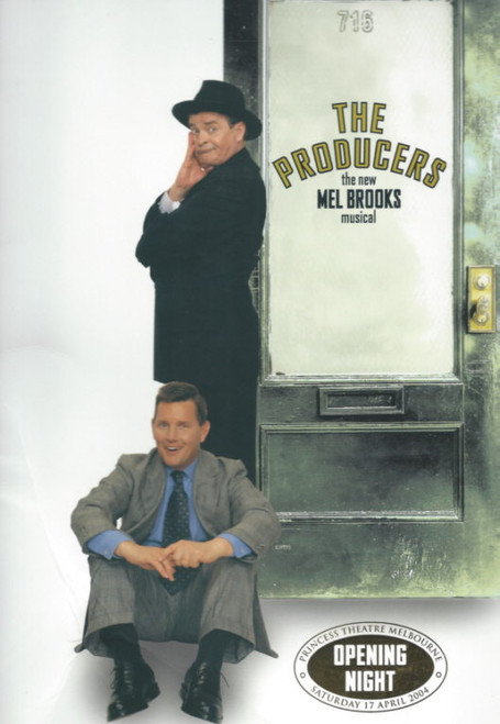 The Producers  (Musical) Opening Night Souvenir Brochure Gold Tagged, Souvenir Brochure - 2004 Reg Livermore, Tom Burlinson, Tony Sheldon