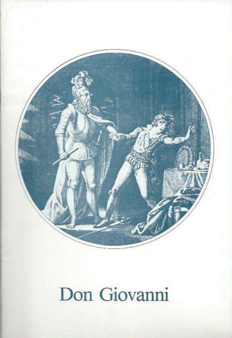 Don Giovanni (Opera) Australian Opera, Souvenir Brochure - 1983 Pieter van der Stolk, Margaret Dixon-McIver, Sergei Baigildin