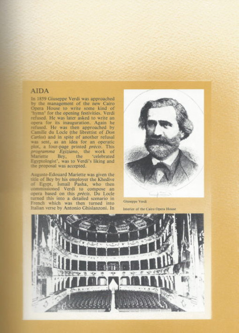 Aida by Giuseppe Verdi(Opera) Australian Opera, Souvenir Brochure - 1984 Donald Shanks, Clifford Grant, Ermanno Mauro