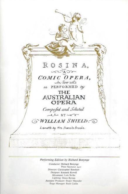 Comedies of Three Centuries (Opera) Australian Opera & Elizabethan Sydney Orchestra, Souvenir Brochure - 1982 Sydney Opera House and Princess Theatre Melbourne, Rosina - Ba-Ta-Clan - The Bear