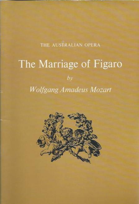 The Marriage of Figaro (Opera) John Fulford, Yvonne Kenny, Rosina Raisbeck, Souvenir Brochure - Australian Opera, Sydney Opera House