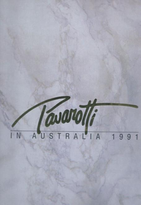 Pavarotti (Tenor) Italian Operatic Tenor Souvenir Brochure - Australian Tour 1991