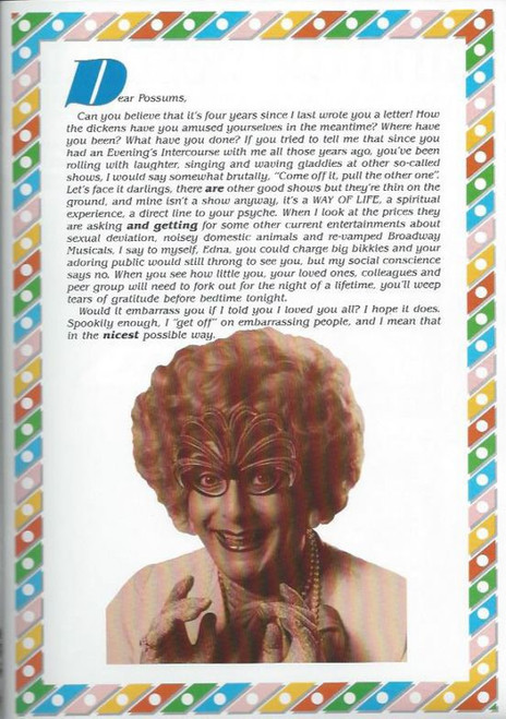 Tears Before Bedtime (Comedy Variety) Barry Humphries, Souvenir Brochure - Dame Edna, Sir Les Patterson, Lance Boyle, Sandy from Glen Iris