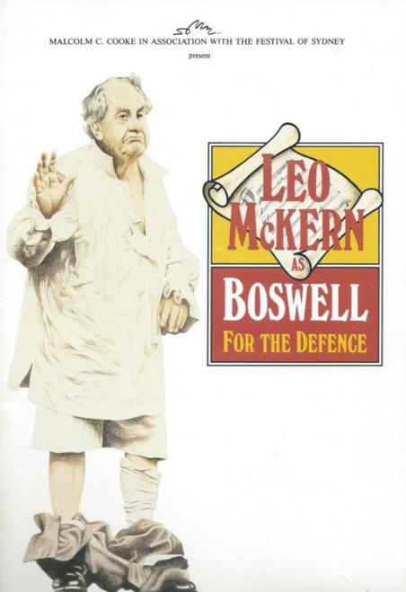 Leo McKern as Boswell (Play) Leo McKern, Deborah Galanos, Souvenir Program Australian Tour 1989