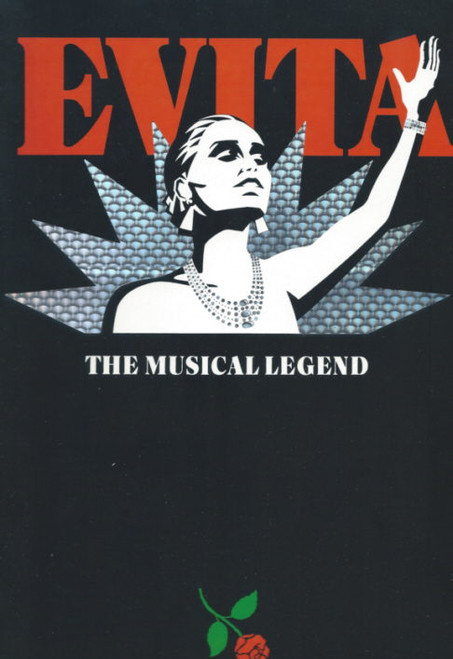 Evita  (Musical) 1989 Stephen Lawrence, Glen Shorrock, Souvenir Brochure  Australian Tour (Rare Cover)