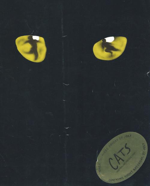 Cats (Musical) Debbie Byrne, John Wood, David Atkins, Souvenir Brochure Opening Night 1986 Theatre Royal Sydney