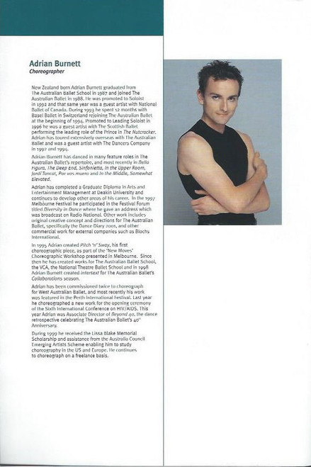United (Dance/Ballet) Australian and West Australian Ballet, Souvenir Brochure 2002 Australian Tour