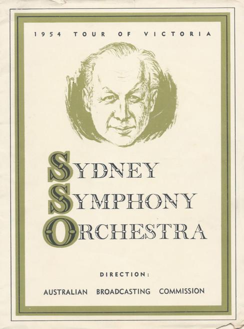 Sydney Symphony Orchestra (Music) Conductor Eugene Goossens, Souvenir Program 1954 Tour Of Victoria