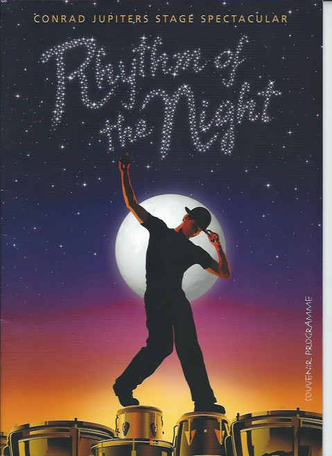 Rhythm of the Night (Musical/Variety ) 2002 Marissa Burgress, Brett Mills, Souvenir Program Conrad Jupiters Casino Gold Coast Australia