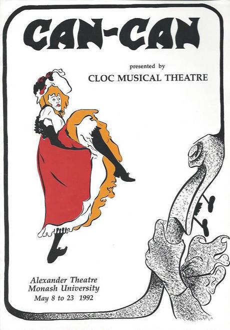 Can Can (Musical) Daniella Maddalena, Richard Corboy, Steve Murray, Souvenir Program Cloc Musical Theatre Melbourne 1992