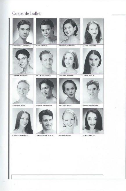 Mirror Mirror (Ballet) Lisa Bolte, Justine Summers, Miranda Coney, Steven Heathcote, David McAllister, Souvenir Brochure Australian Ballet 2000 Season, program