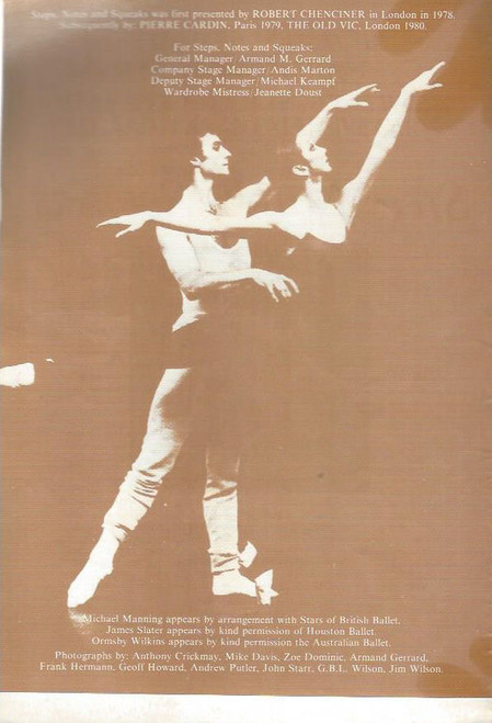 Steps, Notes and Squeaks (Ballet) Devised by Maina Gielgud, Souvenir Brochure 1981  The Festival of Sydney