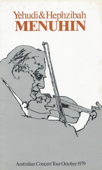 Yehudi & Hephzibah Menuhin (Music) Australian Tour 1979, Souvenir Brochure with the Australian Chamber Orchestra