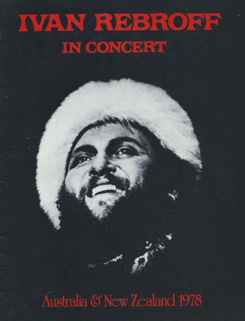 Ivan Rebroff in Concert (Musical) Australia and New Zealand Tour, Souvenir Brochure 1978, Full of Pictures and information on Ivan
