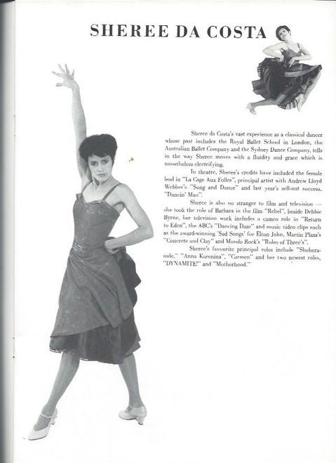 Dynamite (Musical and Dance) David Atkins, Tina Arena, Sheree Da Costa, Souvenir Brochure 1990, full of Great Pictures