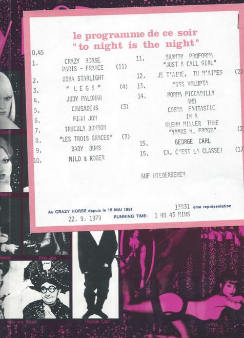 Crazy Horse De Paris (Dance) Caroia Mezzanine, Miss Volupta, Wanda Stradivarius, Cosma Fantastic Four