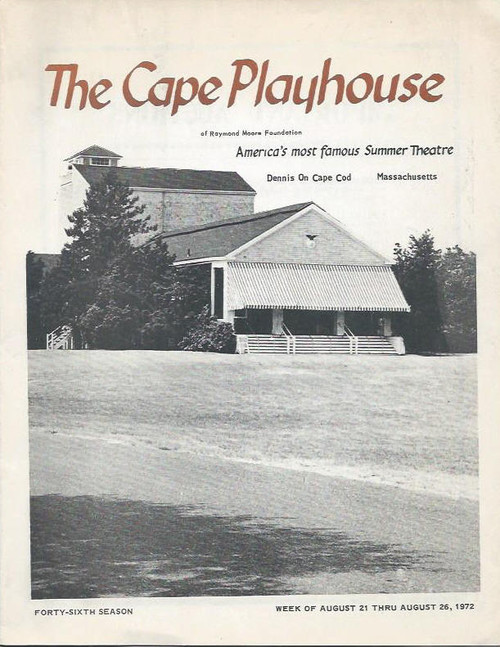 Cape Playhouse (Theatre) 1972, Souvenir Program and Local Information on Cape Cod