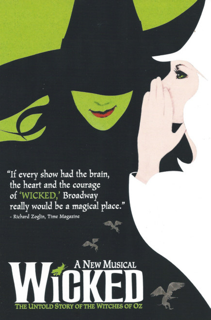 Wicked (Musical) Arizona State University Tempe SU GammagePublicity Packs includes Folder, About Wicked Letter, A3 Poster and Postcard