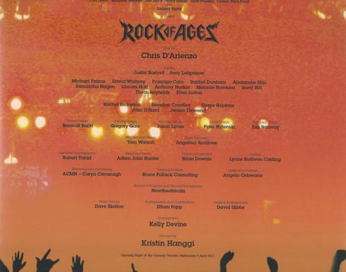 Rock of Ages (Musical) 2009 Australian Tour, Souvenir Brochure Book by Chris D'Arienzo
