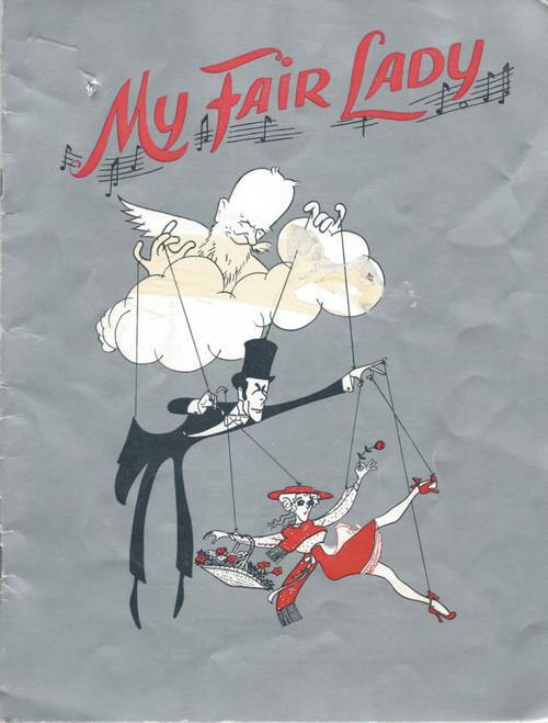 My Fair Lady (Musical) Robin Bailey, Bunty Turner, Richard Walker, Kenneth Laird – 1959 Australian Production, Souvenir Brochure autographed by Bunty Turner