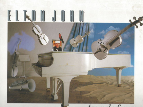 Elton John Tour De Force  (Entertainer) 1986  Elton John, James Newton Howard, Ray Cooper, Souvenir Brochure Someting very Special Tour De Force 8 Weeks accross Australia