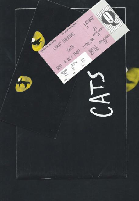 Cats (Musical) 1989 Australian Tour Matthew Barclay, Carolyn Brown, Billy Burke, Amanda Carnie Souvenir Brochure and Pull Program with full cast and Creative Australian Production