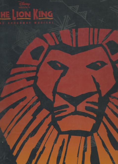 The Lion King (Musical) Broadway Production, Larry Yando, Rufus Bonds Jr, Thandazile A Soni, Souvenir Brochure - Cast and Musical Numbers Lift Out