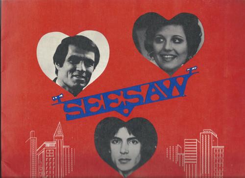 Seesaw (Musical) John Gavin, Lucie Arnaz, Tommy Tune - Shubert Theatre Souvenir Brochure Broadway 1973 includes Playbill