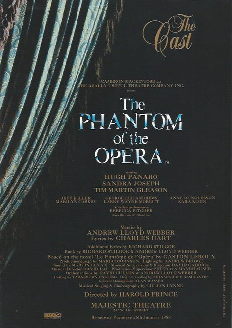 Phantom of the Opera (Musical), Hugh Panaro, Sandra Joseph, Tim Martin Gleason, Majestic Theatre Broadway, Inserts Featuring Beautiful Colour from the Show and Cast 2005 -  2006