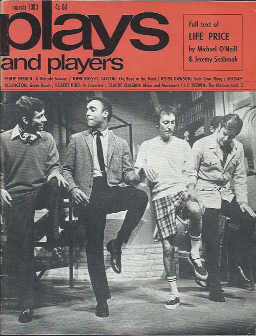 Play & Players featuring Boys in the Band, Souvenir UK Play and Players Magazine March 1969, 74 Pages One Only, Main Feature Boys in the Band open in UK
