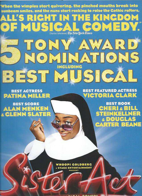 Sister Act (Musical), Patina Miller, Alena Watters, Kingsley Leggs, Fred Applegate, Victoria Clark, Souvenir Brochure, Broadway Musicals, Tony Voter
