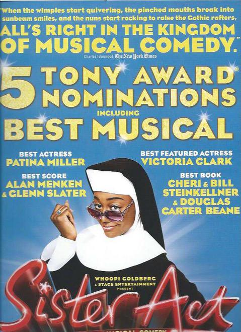 Sister Act (Musical), Patina Miller, Alena Watters, Kingsley Leggs, Fred Applegate, Victoria Clark, Souvenir Brochure, Broadway Musicals, Tony Voter