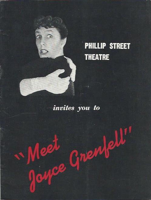 Meet Joyce Grenfell (One Man Show) Joyce Grenfell, Phillip Street Theatre Sydney Playbill / Program 1959
