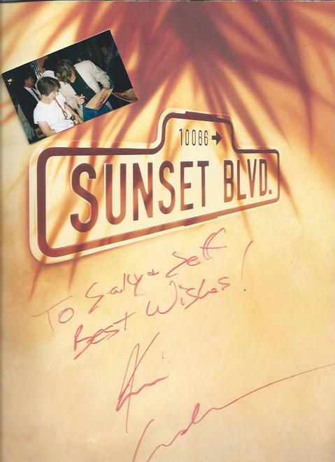 Sunset Boulevard (Musical) 1993 London Production, Patti LuPone, Kevin Anderson, Daniel Benzali, Meredith Braun, Souvenir Brochure 1993 UK Production at the Adelphi Theatre London