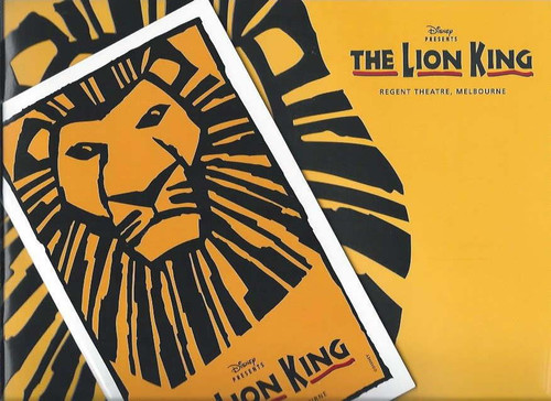 The Lion King (Musical) Melbourne Australia 2005 - Tony Harvey, Geno Segers, Buyisile Zama (Buti), Terry Bader, Jamie McGregor Souvenir Brochure includes Playbill with all cast and Crew details