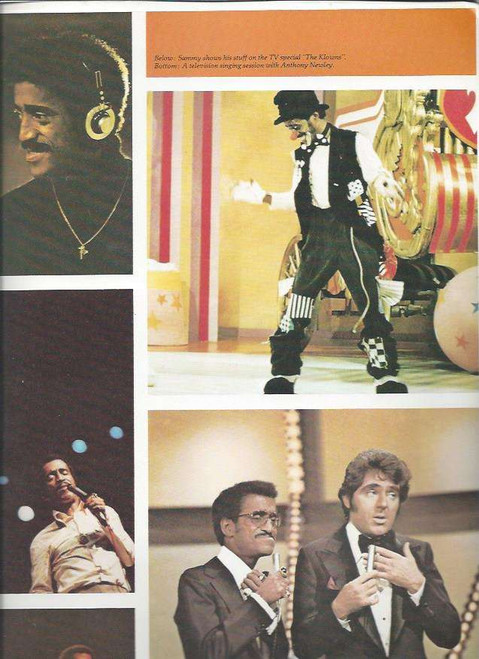 Sammy Davis Jr Australian Tour 1977 (Concert) Sammy Davis Jr, Souvenir Brochure Lots of Great Pictures of Sammy from the show and Life
