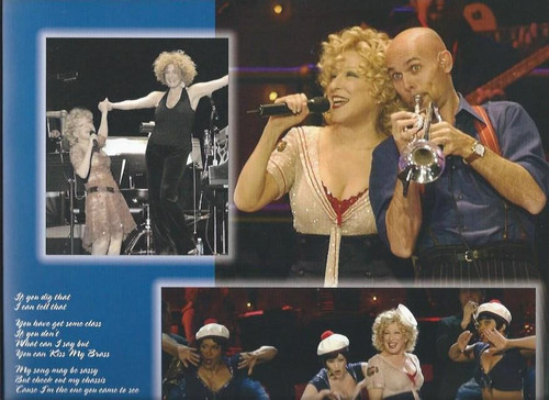 Bette Milder Kiss My Brass Tour, Souvenir Brochure / Program Full of Lush Pictures from the Show and Bette's Past Movies and Show, Size 305 x 305 mm Coffee Table Book