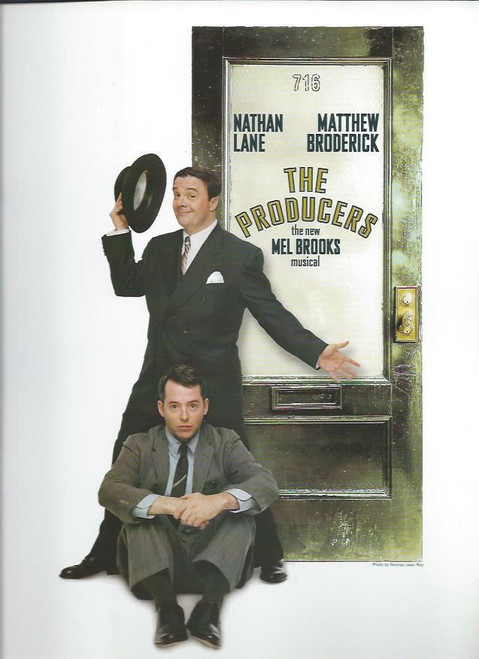 The Producers (Musical), Nathan Lane, Matthew Broderick, Roger Bart, Gary Beach, Cady Huffman, Brad Oscar, Souvenir Brochure Original Broadway Cast