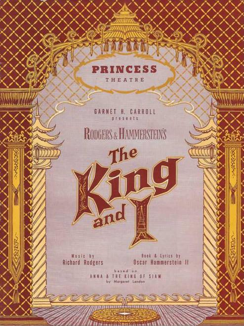 The King and I (Musical), Jeff Warren, Sheila Bradley, Geralden Morrow, John Rickard, 1962 Australian Production Souvenir Brochure