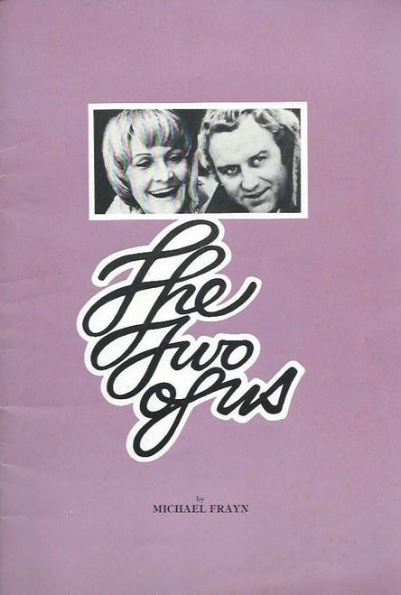 The Two of Us (Play) Souvenir Brochure Date Feb 1977 Theatre Royal Sydney, Starring Sheila Hancock & John Shaw