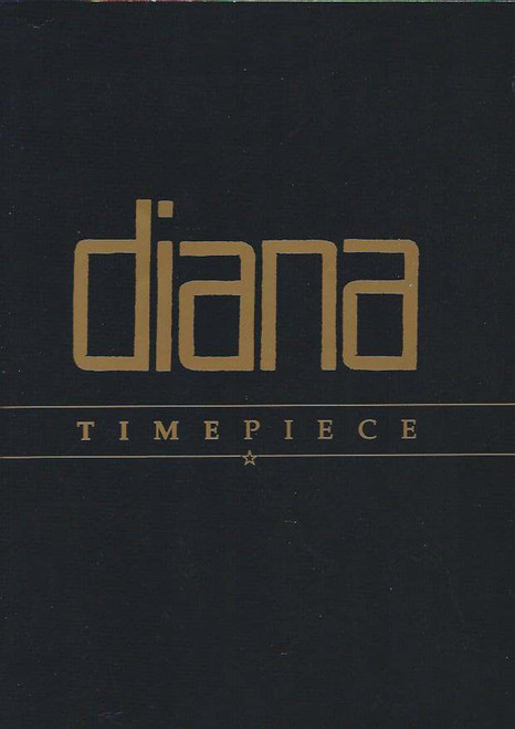 Diana Ross Timepiece Tour 1989 Program, Diana Ross Program, The tour represented her looking back over her famous career, including the present day. There is text, too--her thoughts on the various stages of her professional life from the Supremes to the present. Diana Ernestine Earle Ross (born March 26, 1944) is an American vocalist, music artist and actress