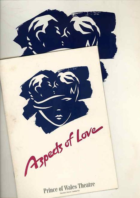 Aspects of Love (Musical), program, souvenir brochure, Ann Crumb, Michael Ball, Kevin Colson, Kathleen Rowe McAllen - 1989 Original London Production