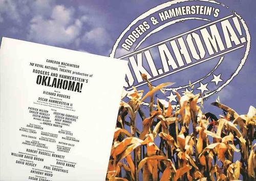 Oklahoma (Musical), Patrick Wilson, Josefina Gabrielle, Shuler Hensley, Jessica Boevers - 2002 Royal National Theatre Production, Oklahoma Program, Oklahoma Broadway Souvenir, Oklahoma on Broadway Program