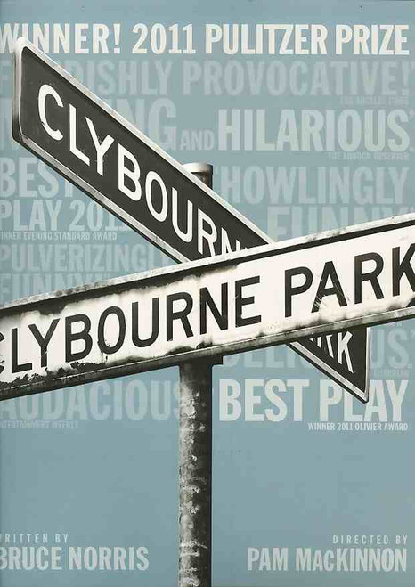 Clybourne Park, program, Clybourne Park souvenir programCrystal A Dickinson, Brendan Griffin, Damon Gupton, Christina Kirk, Annie Parisse, Jeremy Shamos, Frank Wood- 2010 Broadway Production