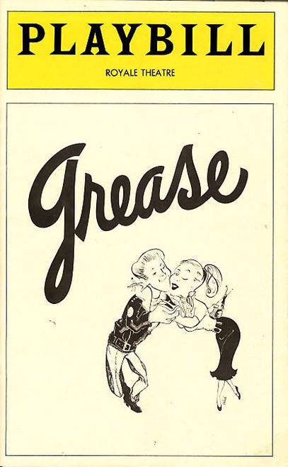Grease (Aug 1976), Lloyd Alann,Candice Earley, Ellen March, Royale Theatre, grease playbills, programs
