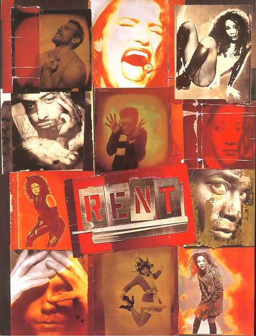 Rent (Musical) - Jonathan Larson, OBC Idina Menzel,Daphne Rubin-Vega,Timothy Britten Parker, Anthony Rapp - 1996 Broadway Production, obc program, rent souvenir brochure