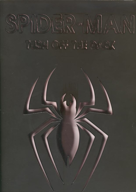 Spider-Man Turn Off The Dark (Musical), Reeve Carney, Jennifer Damiano, T.V Carpio, Patrick Page - 2011 Broadway  Black Cover LAST ONE (RARE), This Black cover Souvenir Brochureis from Spiderman Turn off the Dark May (Musical).