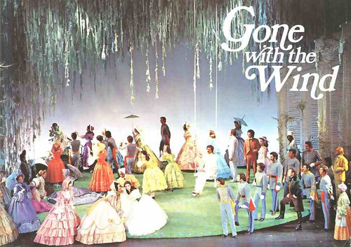 Gone with the Wind (Musical) program, gone with the wind program, June Ritchie, Harve Presnell, Patricia Michael, Robert Swann, Ian Hanson - 1972 West End Production