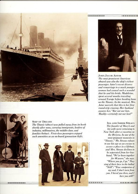 Titanic (Musical), John Cunningham, David Costabile, Ivan Rutherford - 1997 Broadway Production
